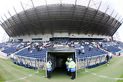 The view from the main stand at The Falkirk Stadium. Falkirk 3 v 0 Stirling Albion, Ramsdens Cup.