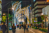 Christmas Lights, San Pedro de Alcantara, Malaga Province, Spain, November, 2018 201811300053<br /> <br /> Copyright Image from Victor Patterson, 54 Dorchester Park, <br /> Belfast, UK, BT9 6RJ<br /> <br /> t: +44 28 9066 1296 (from Rep of Ireland 048 9066 1296)<br /> m: +44 7802 353836<br /> <br /> victorpattersonbelfast@gmail.com<br /> <br /> Please see my Terms and Conditions of Use at victorpatterson.com. It is IMPORTANT that you familiarise yourself with them.<br /> <br /> Images used on the Internet incur an additional cost and must be visibly watermarked i.e. © Victor Patterson within the body of the image and copyright metadata must not be deleted. Images used on the Internet have a size restriction of 4kbs and are chargeable at rates available at victorpatterson.com.<br /> <br /> This image is available only for the use of the download recipient i.e. television station, newspaper, magazine, book publisher, etc, and must not be passed on to any third party. It is also downloaded on condition that each and every usage is notified within 7 days to victorpattersonbelfast@gmail.com<br /> <br /> The right of Victor Patterson (or the named photographer) to be identified as the author is asserted in accordance with The Copyright Designs And Patents Act (1988). All moral rights are asserted.