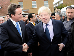 Boris Johnson launches final phase of election campaign 31st March 2008 at Bounces Road Community Hall, Edmonton London Great Britain<br /> <br /> <br /> Ray Lewis<br /> Boris Johnson<br /> David Cameron<br /> <br /> Photograph by Elliott Franks