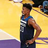 25 December 2017: Minnesota Timberwolves guard Jimmy Butler (23) is seen during the Minnesota Timberwolves 121-104 victory over the LA Lakers, at the Staples Center, Los Angeles, California, USA.