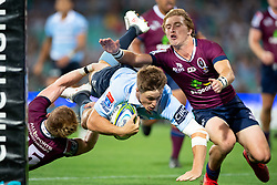 March 9, 2019 - Sydney, NSW, U.S. - SYDNEY, NSW - MARCH 09: Waratahs player Alex Newsome (23) scores a try at round 4 of Super Rugby between NSW Waratahs and Queensland Reds on March 09, 2019 at The Sydney Cricket Ground, NSW. (Photo by Speed Media/Icon Sportswire) (Credit Image: © Speed Media/Icon SMI via ZUMA Press)
