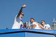 Brighton & Hove Albion goalkeeper David Stockdale and team mates pose for a selfie during the Brighton & Hove Albion Football Club Promotion Parade at Brighton Seafront, Brighton, East Sussex. United Kingdom on 14 May 2017. Photo by Ellie Hoad.