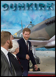 July 13, 2017 - London, London, United Kingdom - Image licensed to i-Images Picture Agency. 13/07/2017. London, United Kingdom. Prince Harry arriving  at the world premiere of Dunkirk in London Picture by Stephen Lock / i-Images (Credit Image: © Stephen Lock/i-Images via ZUMA Press)