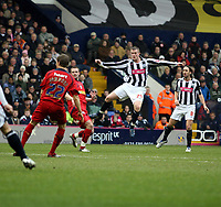 Photo: Mark Stephenson/Richard Lane Photography. <br /> West Bromwich Albion v Colchester United. Coca-Cola Championship. 29/03/2008. <br /> West Brom's Chris Brunt fires the ball in for 2-2