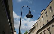 Lampost on mall in Charlottesville, Va. Credit Image: © Andrew Shurtleff