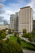 The lush green park next to the Shell building on Stamford Street, South Bank, London SE1.  (photo by Andrew Aitchison / In pictures via Getty Images)