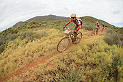 Ester Suss and Sally Bigham maintain their lead in the womens race during stage 2 of the 2014 Absa Cape Epic Mountain Bike stage race from Arabella Wines in Robertson, South Africa on the 25 March 2014<br /> <br /> Photo by Greg Beadle/Cape Epic/SPORTZPICS