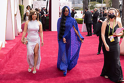 Oscar® nominee H.E.R. (R) and Agnes Wilson arrive on the red carpet of The 93rd Oscars® at Union Station in Los Angeles, CA, USA on Sunday, April 25, 2021. Photo by A.M.P.A.S. via ABACAPRESS.COM on Sunday, April 25, 2021.