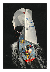 Sailing - The 2007 Bell Lawrie Scottish Series hosted by the Clyde Cruising Club, Tarbert, Loch Fyne..Brilliant first days conditions for racing across the three fleets...National Sonata GBR8157N Cinnabar.