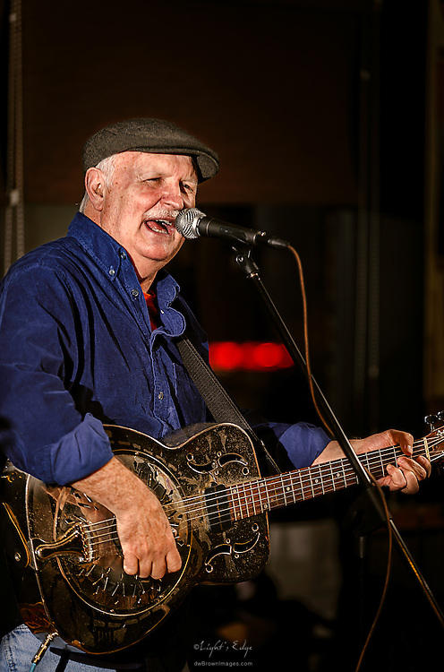 Sherman Lee Dillon of Wepecket Island Recording performing during the Rolling Roots Revue at The Bus Stop Music Cafe in Pitman, NJ.