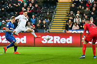 Football - 2018 / 2019 Sky Bet EFL Championship - Swansea City vs. Bolton Wanderers<br /> <br /> Connor Roberts of Swansea City fails to connect in front of goal , at The Liberty Stadium.<br /> <br /> COLORSPORT/WINSTON BYNORTH