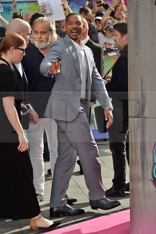 © Licensed to London News Pictures. 03/08/2016. Guests including WILL SMITH, CARA DELEVIGNE, MARGOT ROBBIE and JARAD LETO attend the Suicide Squad UK Film Premiere<br /> <br /> <br /> London, UK. Photo credit: Ray Tang/LNP