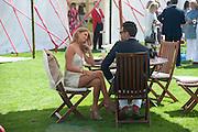 CAMILLA MACKINTOSH; HUGO TAYLOR, Cartier International Polo. Smiths Lawn. Windsor. 24 July 2011. <br /> <br />  , -DO NOT ARCHIVE-© Copyright Photograph by Dafydd Jones. 248 Clapham Rd. London SW9 0PZ. Tel 0207 820 0771. www.dafjones.com.
