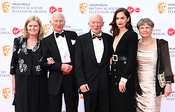 Ruth Wilson (second right) and her family attending the Virgin Media BAFTA TV awards, held at the Royal Festival Hall in London. Photo credit should read: Doug Peters/EMPICS