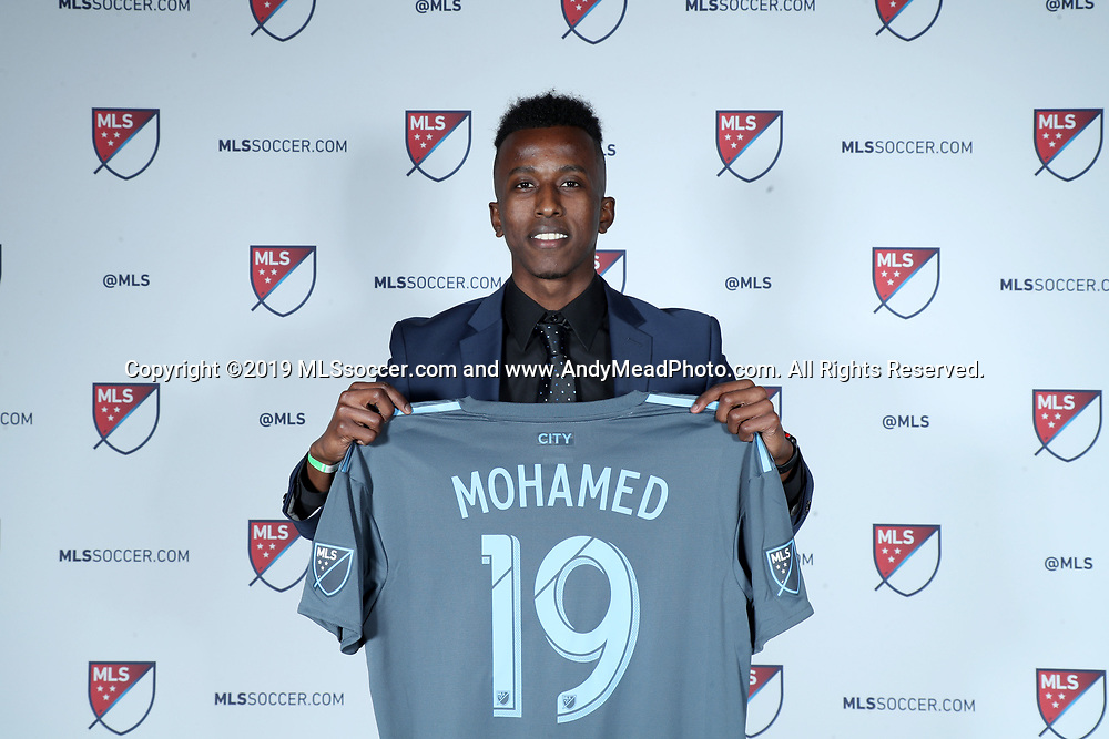 CHICAGO, IL - JANUARY 11: Abdi Mohamed was taken with the 43rd overall pick by New York City FC. The MLS SuperDraft 2019 presented by adidas was held on January 11, 2019 at McCormick Place in Chicago, IL.