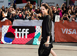 """Director and Actress Angelina Jolie poses for photographs on the red carpet for the movie """"First They Killed My Father"""" at the Toronto International Film Festival in Toronto, ON, Canada, on Monday, September 11, 2017. Photo by Nathan Denette/CP/ABACAPRESS.COM"""