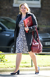 © Licensed to London News Pictures. 01/05/2018. London, UK. Secretary of State for Northern Ireland Karen Bradley arriving in Downing Street to attend a Cabinet meeting this morning. Cabinet positions have recently shuffled around, following Amber Rudd's resignation as Home Secretary, following the Windrush scandal. Photo credit : Tom Nicholson/LNP