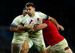 Danny Care of England is tackled - Mandatory by-line: Robbie Stephenson/JMP - 10/02/2018 - RUGBY - Twickenham Stoop - London, England - England v Wales - Women's Six Nations