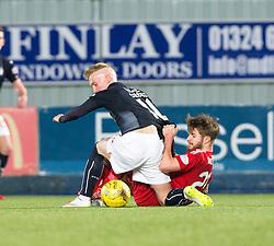 Falkirk's Craig Sibbald and Ayr United's Ross Docherty. Falkirk 1 v 1 Ayr United, Scottish Championship game played 14/1/2017at The Falkirk Stadium .