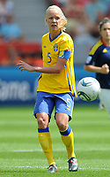 Fotball<br /> VM kvinner 2011 Tyskland<br /> 28.06.2011<br /> Sverige v Colombia<br /> Foto: Witters/Digitalsport<br /> NORWAY ONLY<br /> <br /> Caroline Seger (Schweden)<br /> Frauenfussball WM 2011 in Deutschland, Kolumbien - Schweden 0:1