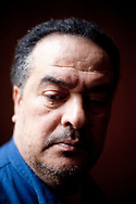 13052010. Paris. Portrait de Taoufik Ben Brik, journaliste et opposant tunisien, en visite ˆ Paris aprs six mois de prison en Tunisie.