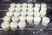 making of sheep cheese first stage of drying out