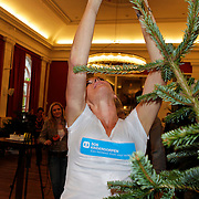 NLD/Amsterdam/20111208- Sky Radio Christmas tree for Charity, Danielle Oerlemans