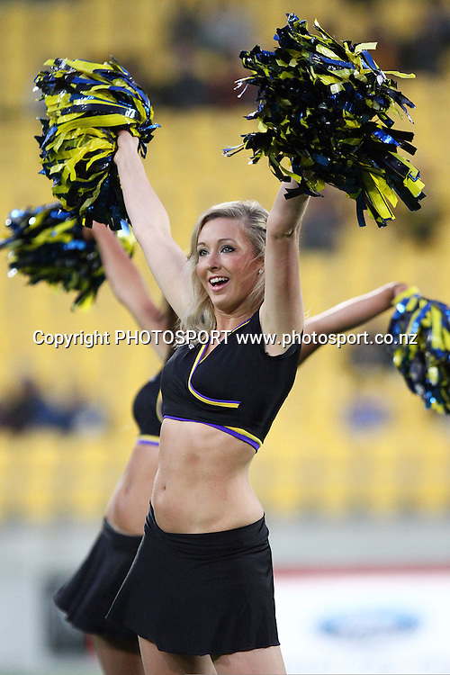 Hurricanes Cheerleaders. Super 14 rugby union match, Hurricanes v Sharks at Westpac Stadium, Wellington, New Zealand. Saturday 27 March 2010. Photo: Anthony Au-Yeung/PHOTOSPORT