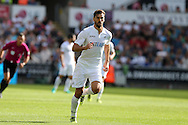 Fernando Llorente of Swansea in action. Premier league match, Swansea city v Chelsea at the Liberty Stadium in Swansea, South Wales on Sunday 11th Sept 2016.<br /> pic by  Andrew Orchard, Andrew Orchard sports photography.