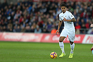 Kyle Naughton of Swansea city in action. Premier league match, Swansea city v Burnley at the Liberty Stadium in Swansea, South Wales on Saturday 4th March 2017.<br /> pic by Andrew Orchard, Andrew Orchard sports photography.