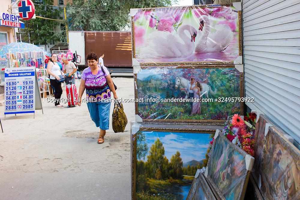 20150821  Moldova Swans on pointings at the market of Rezina