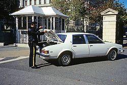 Checking Car At White House