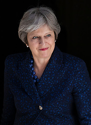 © Licensed to London News Pictures. 06/06/2018. London, UK. Prime Minister Theresa May leaves 10 Downing Street. Photo credit: Rob Pinney/LNP