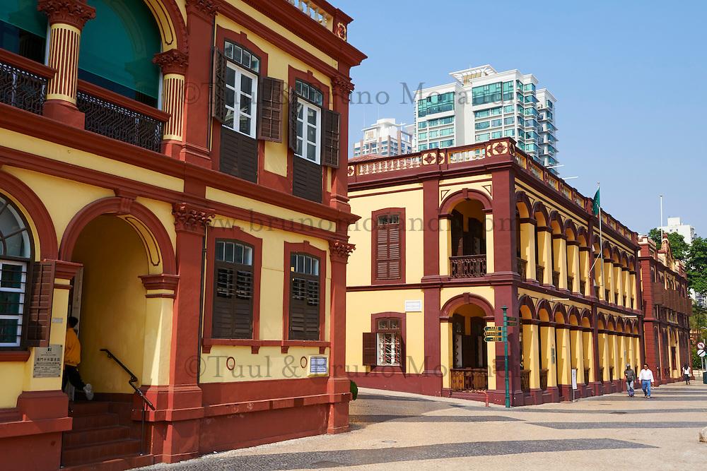 Chine, Macao, architecture coloniale sur Avenida do Conselheiro Ferreira de Almeida // China, Macau, colonial architecture on Avenida do Conselheiro Ferreira de Almeida
