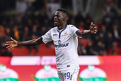 April 18, 2018 - Benevento, Campania, Italy - Musa Barrow of Atalanta BC celebrates after scoring the 0-2 goal during the Italian Serie A football Benevento Calcio v Atalanta Bergamasca Calcio at..Ciro Vigorito Stadium in Benevento on April 18, 2018  (Credit Image: © Paolo Manzo/NurPhoto via ZUMA Press)