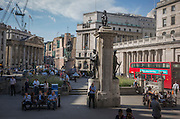A wide view of Bank Triangle on 13th September 2016, in the City of London, England.