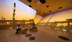 Display of the oil and gas industry at the new National Museum of Qatar in Doha , Qatar. Architect Jean Nouvel.