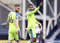Derby County's Tom Huddlestone (right) and Alex Pearce<br /> <br /> Photographer Rich Linley/CameraSport<br /> <br /> The EFL Sky Bet Championship - Preston North End v Derby County - Monday 2nd April 2018 - Deepdale Stadium - Preston<br /> <br /> World Copyright © 2018 CameraSport. All rights reserved. 43 Linden Ave. Countesthorpe. Leicester. England. LE8 5PG - Tel: +44 (0) 116 277 4147 - admin@camerasport.com - www.camerasport.com