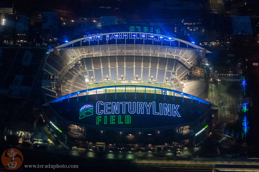 December 29, 2019; Seattle, Washington, USA; General aerial view of CenturyLink Field before the game between the San Francisco 49ers and the Seattle Seahawks.