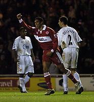 Fotball<br /> Premier League England 2004/2005<br /> Foto: SBI/Digitalsport<br /> NORWAY ONLY<br /> <br /> Middlesbrough v Aston Villa<br /> Barclays Premiership, 18/12/2004.<br /> <br /> Middlesbrough's Michael Reiziger celebrates after scoring.
