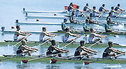 Milan ITALY,  General View of the BM4X. 1997 Nations Cup U23  World Rowing Championships. Course, Idra Scala. Province of Milan.<br /> <br /> [Mandatory Credit; Peter Spurrier/Intersport-images] 1997 U23 Nations Cup U23 Championships. Milan Italy