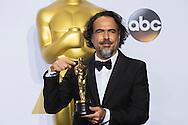 "88th Academy Awards press room.<br /> Best Direction winner ALEJANDRO G. IÑÁRRITU for the film ""The Revenant."""