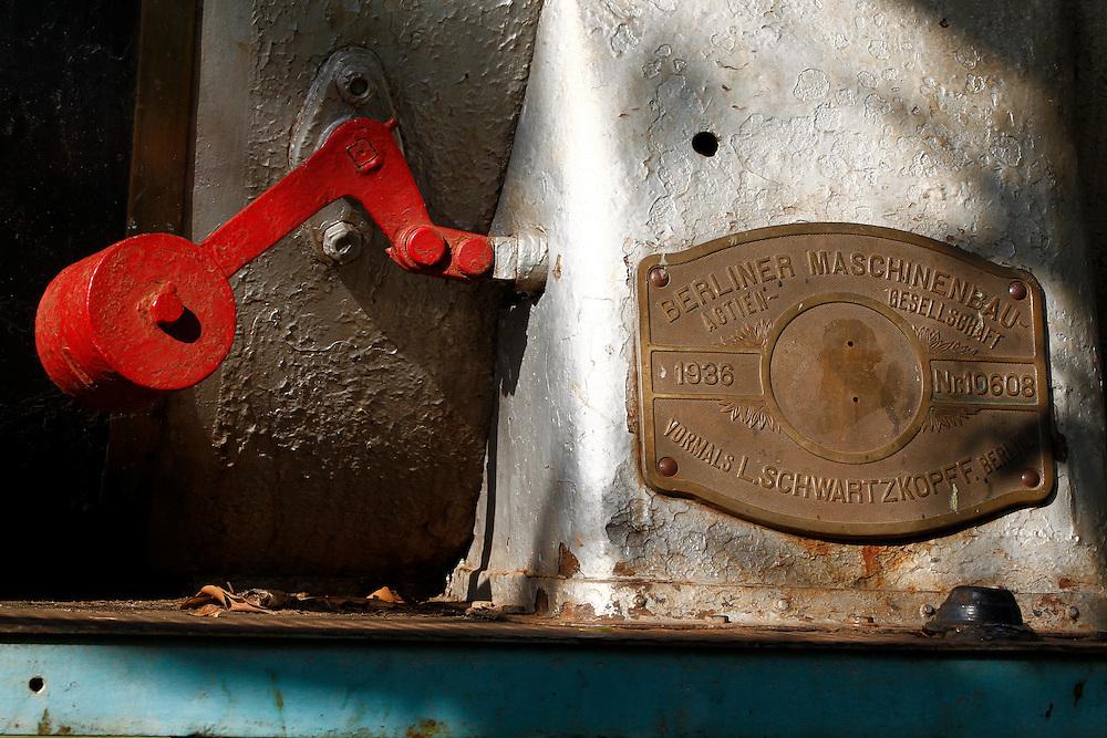 Guajara Mirim_RO, Brasil.<br /> <br /> Locomotiva da estrada de ferro madeira-mamore em Guajara Mirim, Rondonia.<br /> <br /> Locomotive of madeira-marmore railroad in Guajara Mirim, Rondonia.<br /> <br /> Foto: MARCUS DESIMONI / NITRO