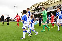 Mascot walk out - Mandatory by-line: Dougie Allward/JMP - 28/10/2017 - FOOTBALL - Memorial Stadium - Bristol, England - Bristol Rovers v Milton Keynes Dons - Sky Bet League One