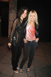 Left to right, LEAH WOOD and JO WOOD at the afterparty sponsored by Swarovski following the Giles Deacon London Fashion Week Spring Summer 2009 fashion show during London Fashion Week, at The Old Sorting Office, 21-31 New Oxford Street, London  on 16th September 2008.