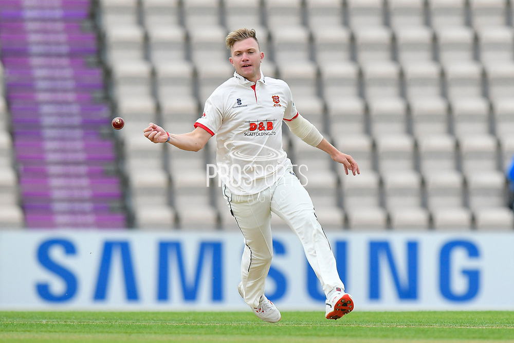 Sam Cook of Essex during the first day of the Specsavers County Champ Div 1 match between Hampshire County Cricket Club and Essex County Cricket Club at the Ageas Bowl, Southampton, United Kingdom on 5 April 2019.