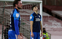 Preston North End's Jordan Storey reacts after conceding an own goal<br /> <br /> Photographer Alex Dodd/CameraSport<br /> <br /> The EFL Sky Bet Championship - Middlesbrough v Preston North End - Tuesday 16th March 2021 - Riverside Stadium - Middlesbrough<br /> <br /> World Copyright © 2021 CameraSport. All rights reserved. 43 Linden Ave. Countesthorpe. Leicester. England. LE8 5PG - Tel: +44 (0) 116 277 4147 - admin@camerasport.com - www.camerasport.com