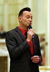 'Strictly Come Dancing' judge Craig Revel Horwood talks to guests during a tea dance hosted by The Duchess of Cornwall, President of the National Osteoporosis Society, at Buckingham Palace in London to highlight the benefits for older people of staying active.