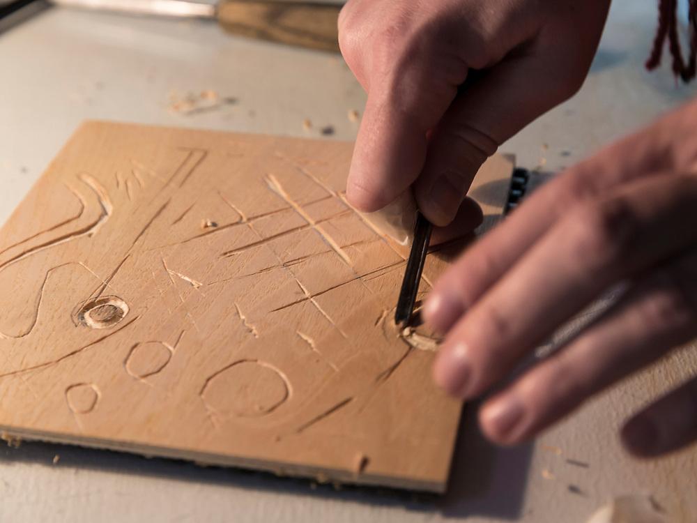 Art Academy Lisa and Woodcut Masterclass, Art Academy, Newington, London, England, on 2nd March 2018