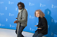 Witiyana Marika and Director and producer  Stephen Maxwell Johnson at the photocall for the film High Ground at the 70th Berlinale International Film Festival, on Sunday 23rd February 2020, Hotel Grand Hyatt, Berlin, Germany. Photo credit: Doreen Kennedy